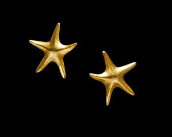 Gold Plated Earring Aster