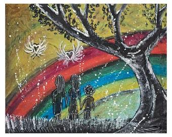 Rainbow - Mixed Media print