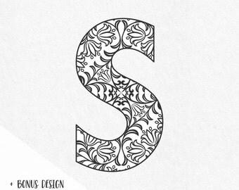 Svg Fonts Monogram Font Svg Floral Monograms Ornaments Alphabet Letters Svg Cricut Files Silhouette Svg Files Svg Designs Svg Vinyl Design