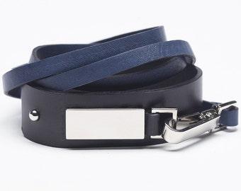 Natural leather bracelet for men