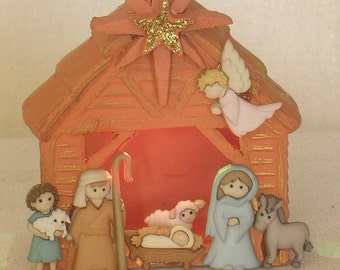 Stable Nativity with Color-Changing Light