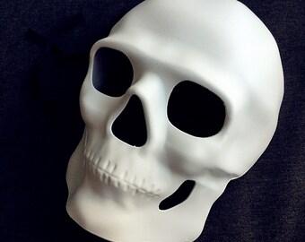 Plain White DIY Skull Day of the Dead Mask Halloween Costume dress up Skeleton mask
