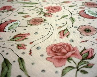 NEW! Premium cotton fabric Mirabelle - Curiosity Floral ROSE