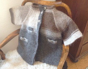 Knitted and felted jacket