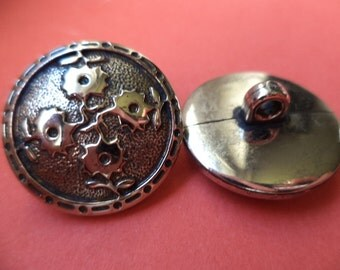 10 buttons silver 20mm (948) button