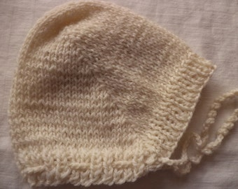 Baby Hat wool 39-42 cm Hat wool knitted baby