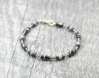 HEMATITE Beaded Bracelet, Gemstone Bracelet, Crystal Bracelet, Beaded Bracelet