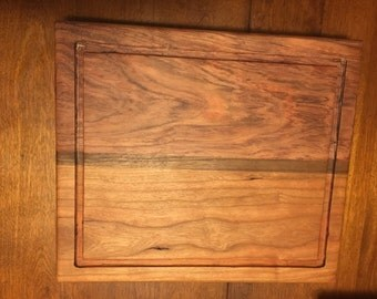 Cherry Bubinga Walnut Stripe 12x14 Cutting Board