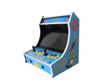 Custom Simpsons Bartop Arcade! 645 Games!