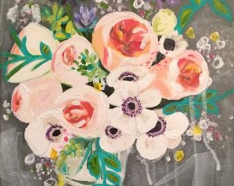 Floral Still Life -  11x14