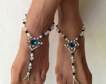 Barefoot Sandals, Lady Isabella Barefoot Sandel, Beach Wedding Sandals, Wedding Sandal Beach Jewelry Bridesmaids Gift  Sandals