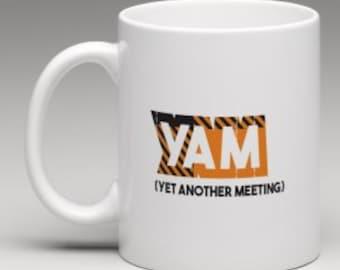 YAM Yet Another Meeting Scottish Glasgow Tartan Text Speak 10oz Mug