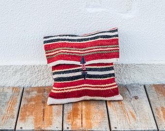 Moroccan hand woven Kilim messenger bag