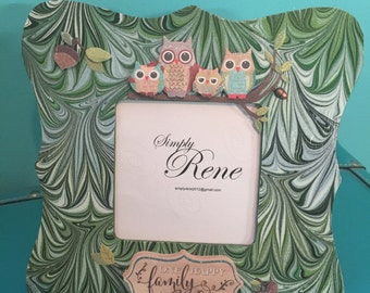 One Happy Family Owl Frame