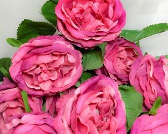 Pink Fuchsia Peony Stem