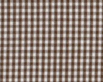 "Fabric Finders Chocolate Gingham 1/16""-1 Yard"