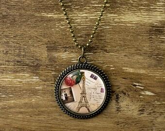 Eiffel tower pendant necklace,  Paris necklace,  Romantic pendant necklace