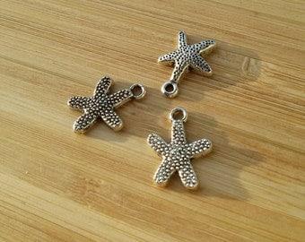 Starfish charms, pendants 20 starfish, starfish