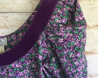 Rich purple reworked peasant top