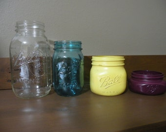 Set of 4 Mason Jars