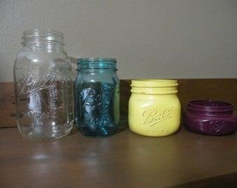 Set of 4 Mason Jars