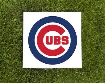 Chicago Cubs-Baseball LogoTeam Logo-Car Decal-Coffee Mug-Canvas-Decor-Tumbler