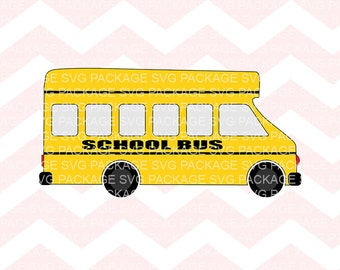 SVG Cutting File, Yellow School Bus Clipart, Png Bus, Clipart, Bus cutting file, Bus SVG, Bus ride Svg, School bus cutting file, School Bus