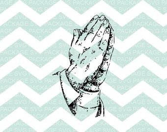 SVG Clipart, Prayer Svg, Prayer Hands Clipart SVG, Religious Art, Bible Clipart, Svg Cutting File, Svg Design, Cutting Machine