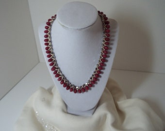 Raspberry Zoisite Necklace