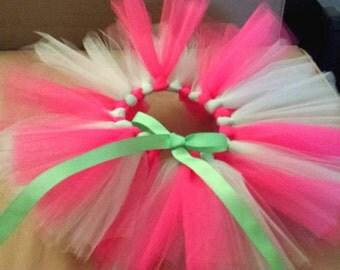 Mint Green and Pink Ribbon Tie Tutu