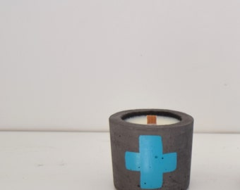 Small Concrete and Soy Candle with Wood Wick