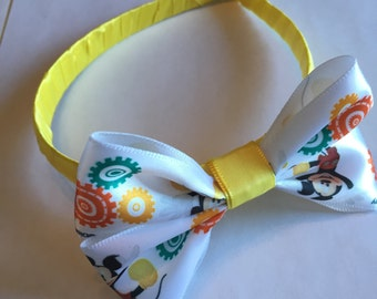 Mickey Mouse yellow and white headband