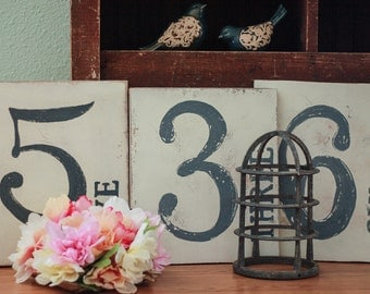 Family Number Sign, your choice of 1 number, Joanna Gaines style,Magnolia Market inspired, Farm House Decor, vintage, rustic