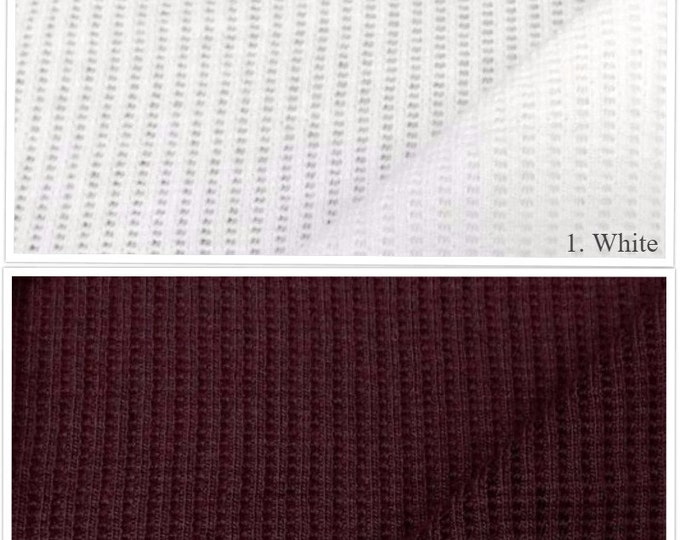 Modal/Cotton Thermal Fabric (Wholesale Price Available By the Bolt) - USA Made Premium Quality - 7416B- 1 Yard
