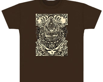 Grateful Dead Aiko-Aiko retro T-shirt on Brown