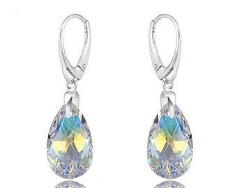 Earrings Swarovski sterling silver swarovski crystal  wedding earrings Crystal earrings Crystal