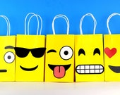 Emoji Favor Bag Instant Download