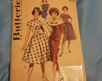 1960 Butterick #9031 size 12 UNCUT