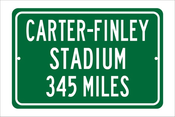 Custom College Highway Distance Sign to Carter-Finley Stadium | Home of the NC State Wolfpack | Wolfpack  Football | NC State University
