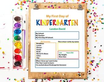Back to School: Kindergarten Questions