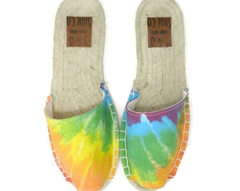 Womens tie dye espadrilles - tie dye shoes - tie dye sandals - womens shoes - womens sandals - womens espadrilles - monogram