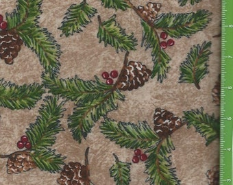 Rustic Retreat,River Woods Collection pine boughs,Troy Fabrics Flannel