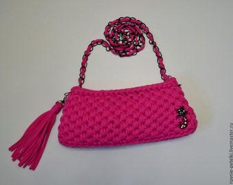 """Clutch handbag """"Fuchsia"""""""