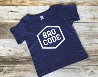 Bro Code Shirt. Brothers Shirt. Sibling Shirt. Funny kids shirt.