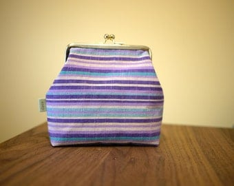 Handmade Japanese cotton cosmetic pouch