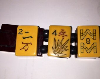 Bakelite Mah Jong Tile Bracelet