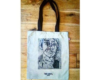 Perception Print Hemp Tote Bag Natural Eco Friendly - Long Handles - Limited Edition ONLY 5 MADE