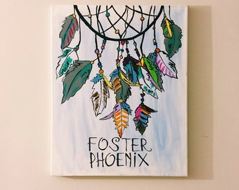 Personalized Dreamcatcher Canvas