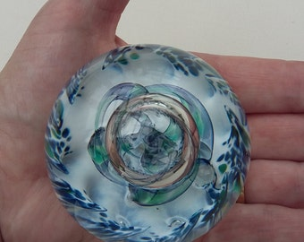 Vintage Selkirk Glass Paperweight Scottish Glass signed