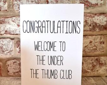 Under the Thumb Club greetings card